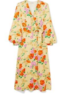 Dries Van Noten Floral-jacquard Wrap Dress