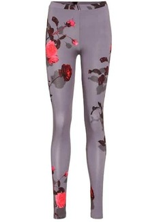 Dries Van Noten Floral jersey leggings