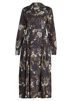 Dries Van Noten Floral Midi Shirtdress