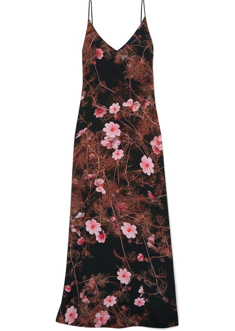 Dries Van Noten Floral-print Silk Crepe De Chine Maxi Dress