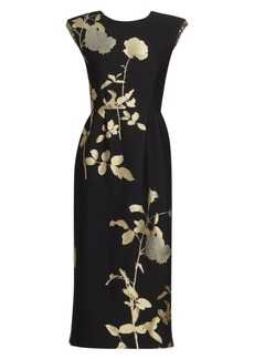 Dries Van Noten Floral Sequin Sheath Dress