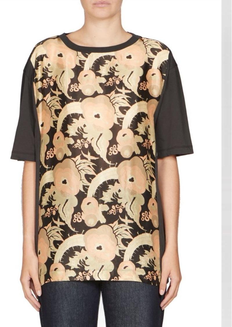 Dries Van Noten Floral Silk Combo T-Shirt