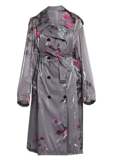 Dries Van Noten Floral Trench Rain Coat