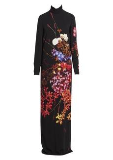 Dries Van Noten Floral Turtleneck Maxi Dress
