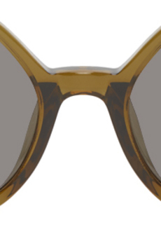 Dries Van Noten Green Linda Farrow Edition Angular Sunglasses