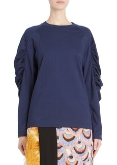 Dries Van Noten Ruched-Sleeve Sweater
