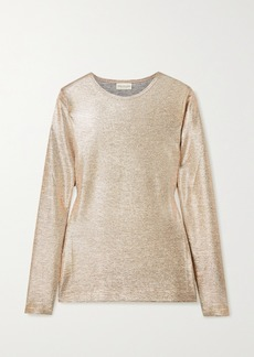 Dries Van Noten Stretch-lamé Top