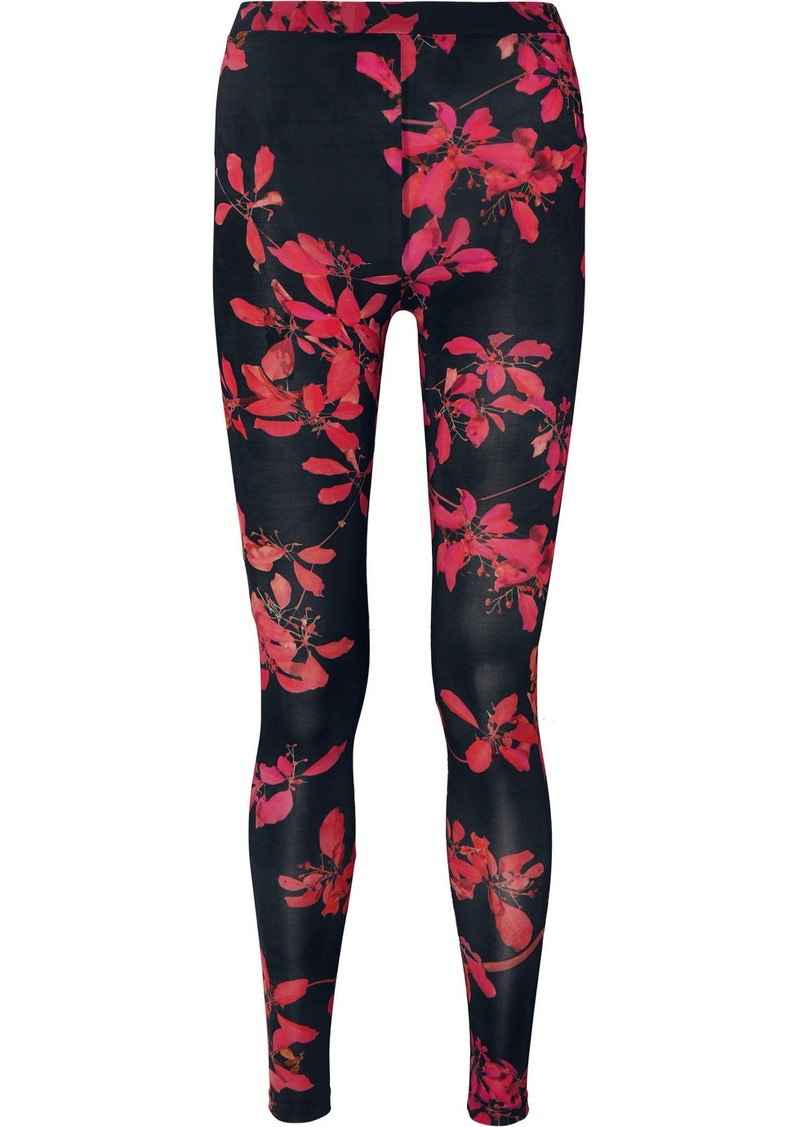 Dries Van Noten Haver Floral-print Stretch-jersey Leggings