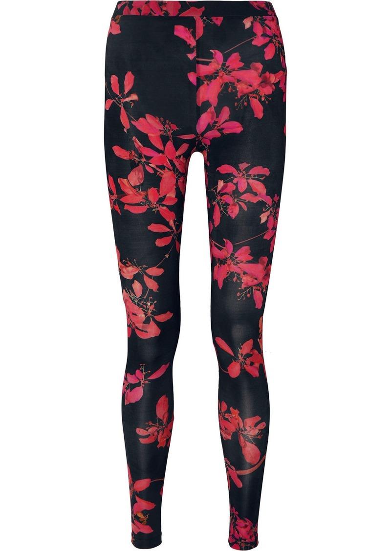 Dries Van Noten Haver Floral-print Stretch-jersey Leggings