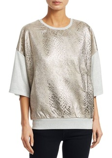 Dries Van Noten Heary All Silver Textured Top