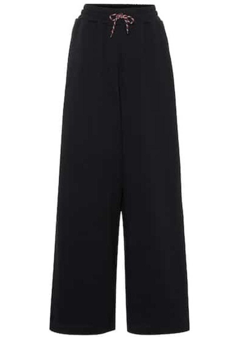 Dries Van Noten High-rise cotton track pants