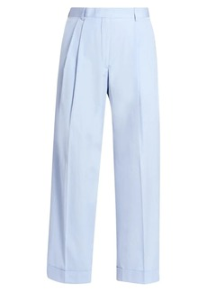 Dries Van Noten High-Rise Pleated Cotton Trousers