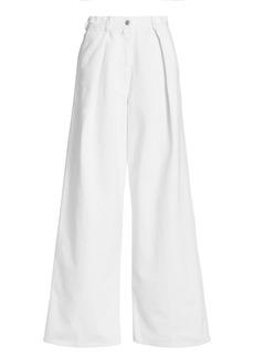 Dries Van Noten High-Rise Wide-Leg Pleated Jeans