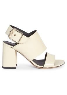 Dries Van Noten Leather Buckled Block Heel Sandals
