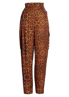 Dries Van Noten Leopard-Print Cargo Pants