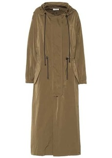 Dries Van Noten Long silk-blend parka