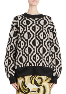 Dries Van Noten Long Sleeve Geometric Sweater