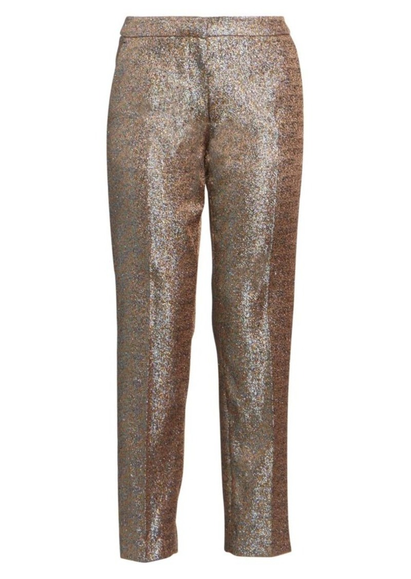Dries Van Noten Lurex Straight-Leg Trousers
