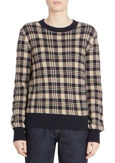 Dries Van Noten Madras Check Wool-Blend Sweater