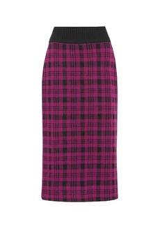 Dries Van Noten Marjery checked wool midi skirt