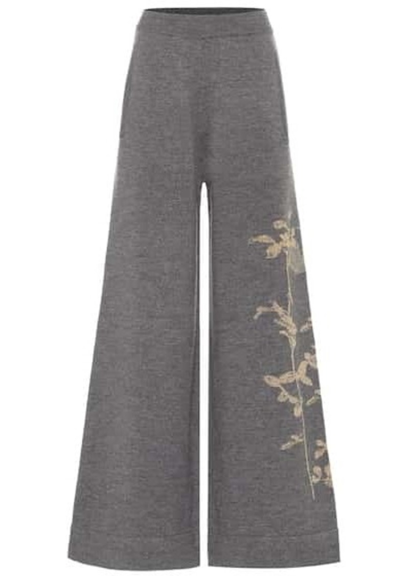 Dries Van Noten Merino wool-blend wide-leg pants