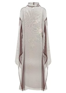 Dries Van Noten Mesh silk dress