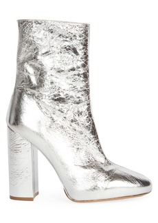 Dries Van Noten Metallic Leather Block Heel Booties