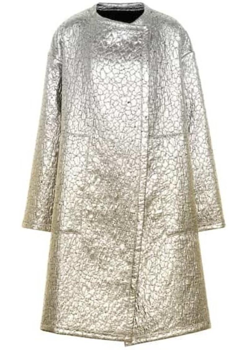 Dries Van Noten Metallic wool-blend coat