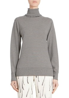 Dries Van Noten Striped Knit Virgin Wool Turtleneck Sweater