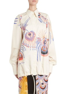 Dries Van Noten Oversize Button-Down Printed Shirt