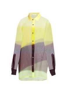 Dries Van Noten Oversized Colorblock Silk Shirt