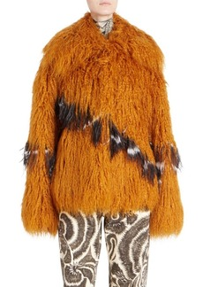 Dries Van Noten Oversized Faux Fur Jacket