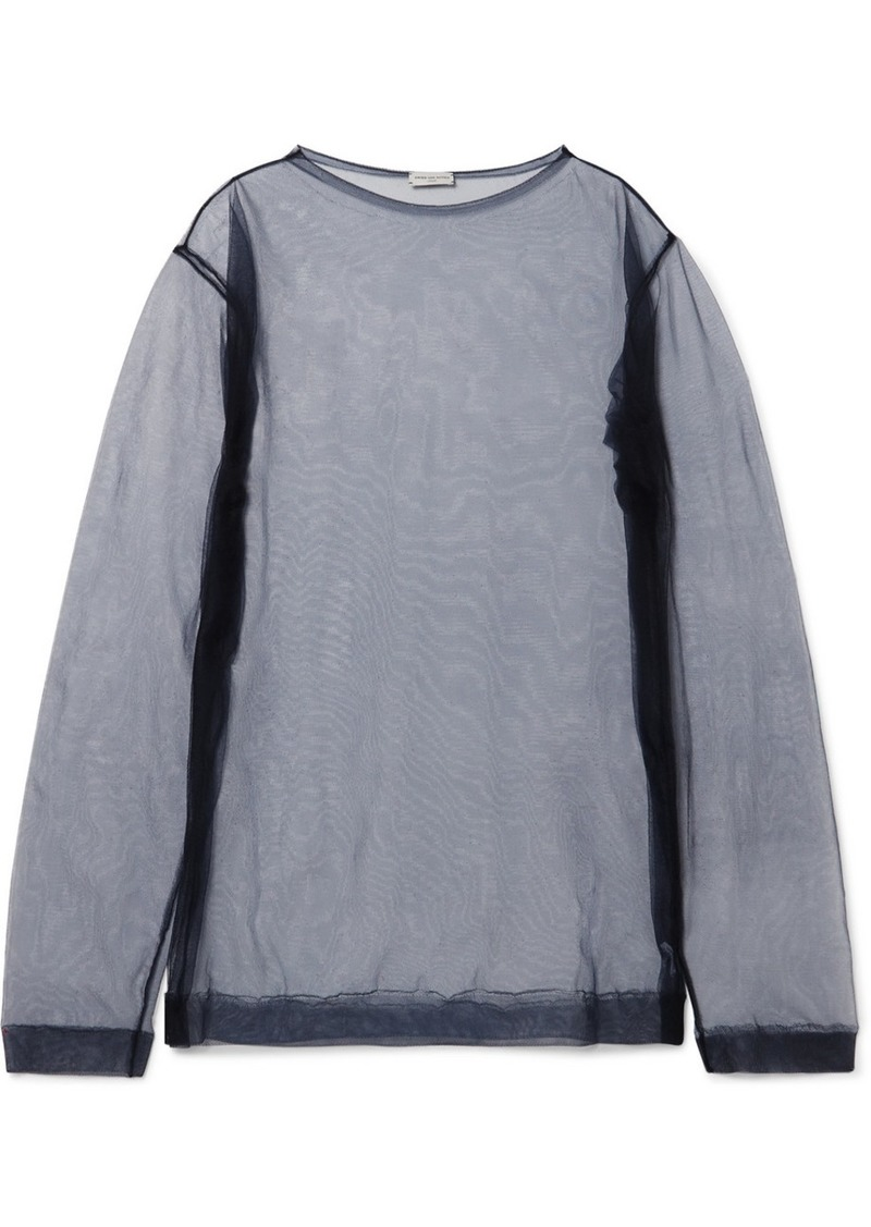 Dries Van Noten Oversized Organza Top