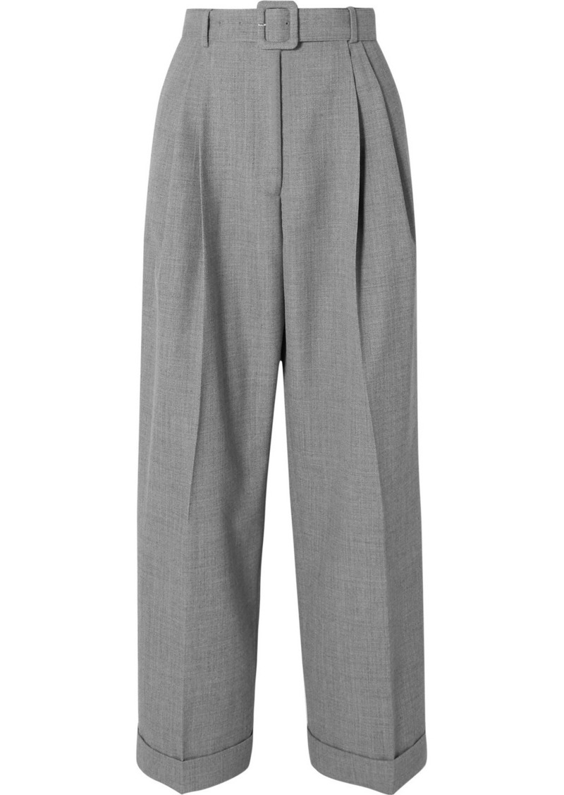 Dries Van Noten Partan Belted Woven Straight-leg Pants