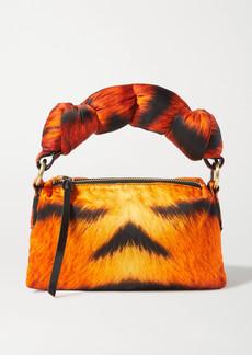 Dries Van Noten Pillow Small Padded Tiger-print Duchesse-satin Tote