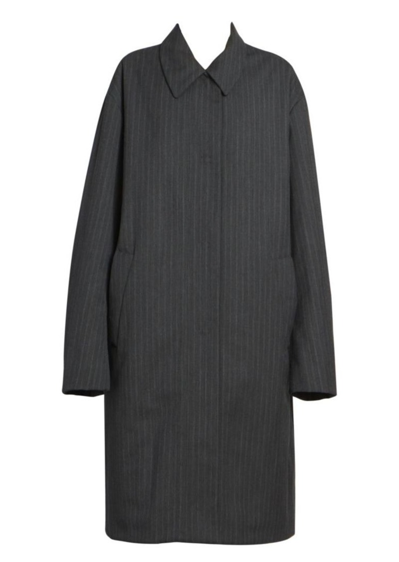 Dries Van Noten Pinstripe Overcoat