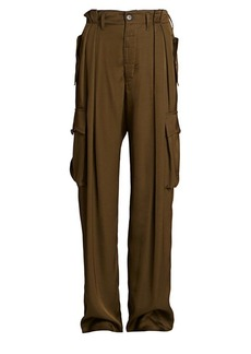 Dries Van Noten Pleated Full-Leg Cargo Pants