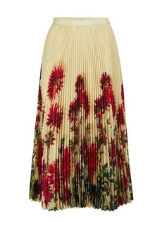 Dries Van Noten Pleated printed skirt