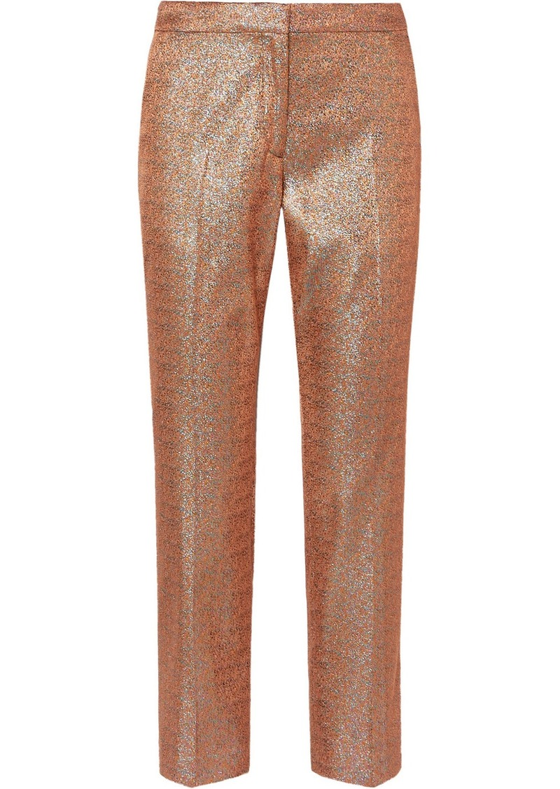 Dries Van Noten Poumas Lamé Straight-leg Pants