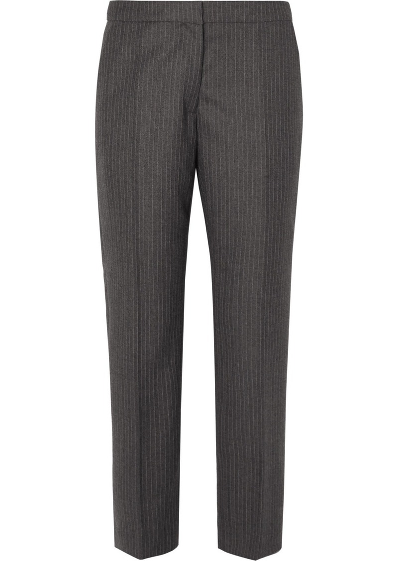Dries Van Noten Poumas Pinstriped Wool Tapered Pants