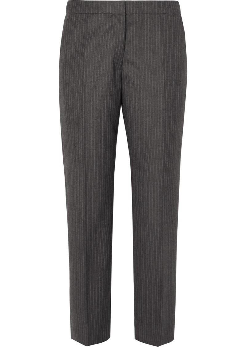 Dries Van Noten Poumas Pinstriped Wool Tapered Pants