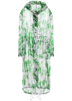 Dries Van Noten Printed silk-blend organza coat
