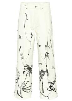 Dries Van Noten Printed wide-leg jeans
