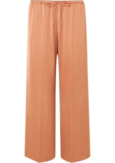 Dries Van Noten Puvis Hammered-satin Wide-leg Pants