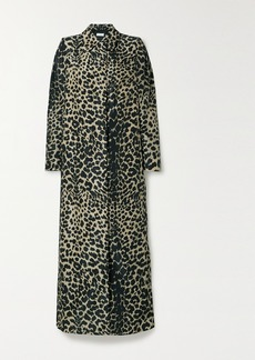 Dries Van Noten Leopard-print Shell Trench Coat