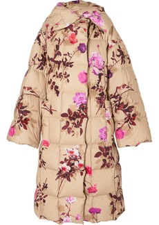 Dries Van Noten Recabis Oversized Floral-print Quilted Shell Down Coat