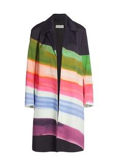 Dries Van Noten Relaxed Watercolor Stripe Jacket