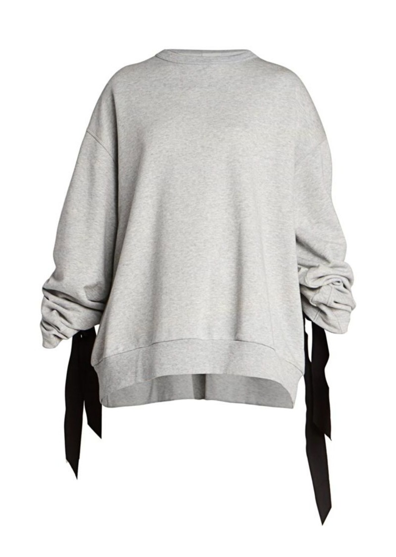 Dries Van Noten Ribbon Back Detail Sweatshirt
