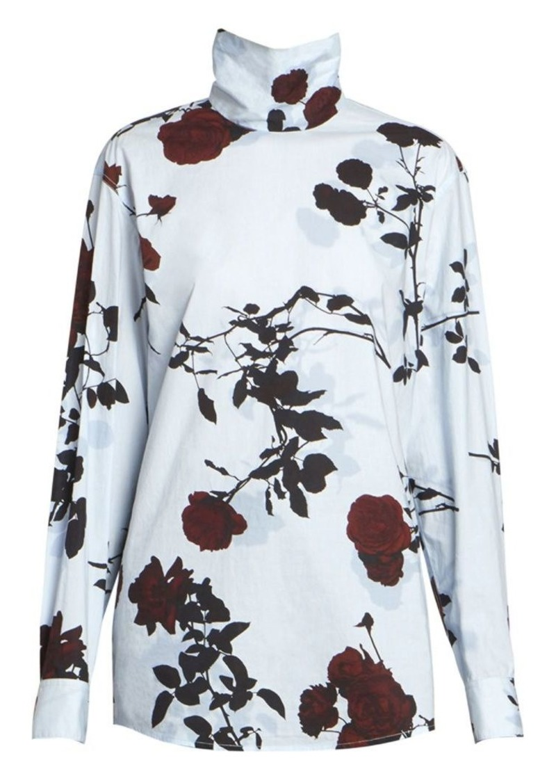 Dries Van Noten Rose Turtleneck Top