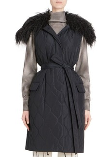 Dries Van Noten Quilted Faux-Shearling Vest